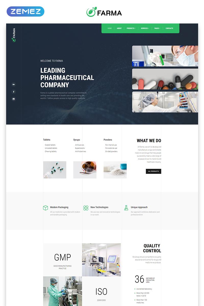 Responsive Farma - Pharmacy Multipage Clean Bootstrap HTML Web Sitesi #58933