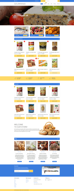 Responsive Gourmania Shopify #58945