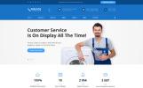 Responsive Homepage-Vorlage für eine Webseite des Hausmeisterservice