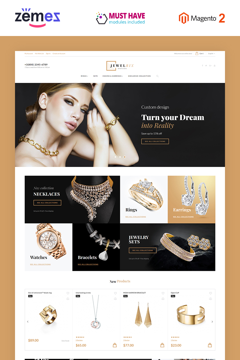 Responsive Jewelrix Magento #58903