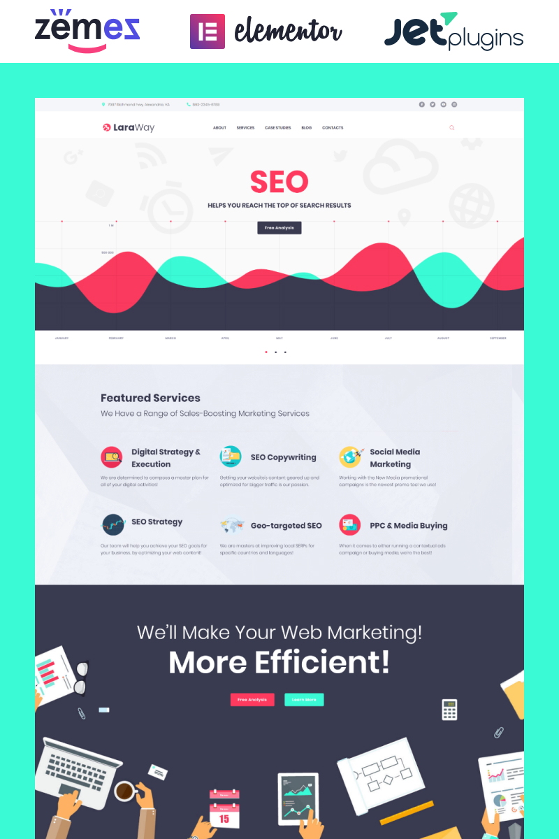 Responsive Laraway - SEO & Digital Marketing Agency Wordpress #58911