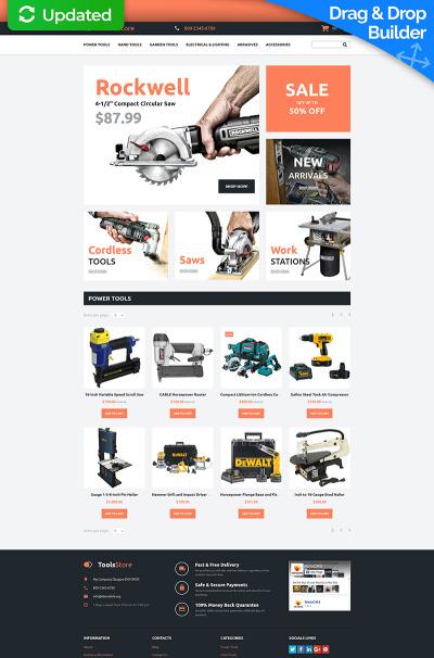 Responsive MotoCMS E-Commerce Vorlage für Werkzeuge und Geräte