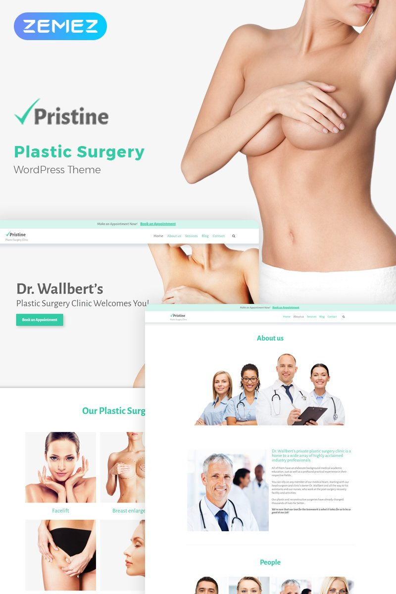 Responsive Pristine - Plastic Surgery Wordpress #58987 - Ekran resmi