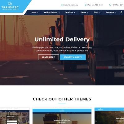 Website Vorlage #57727 für Taxi