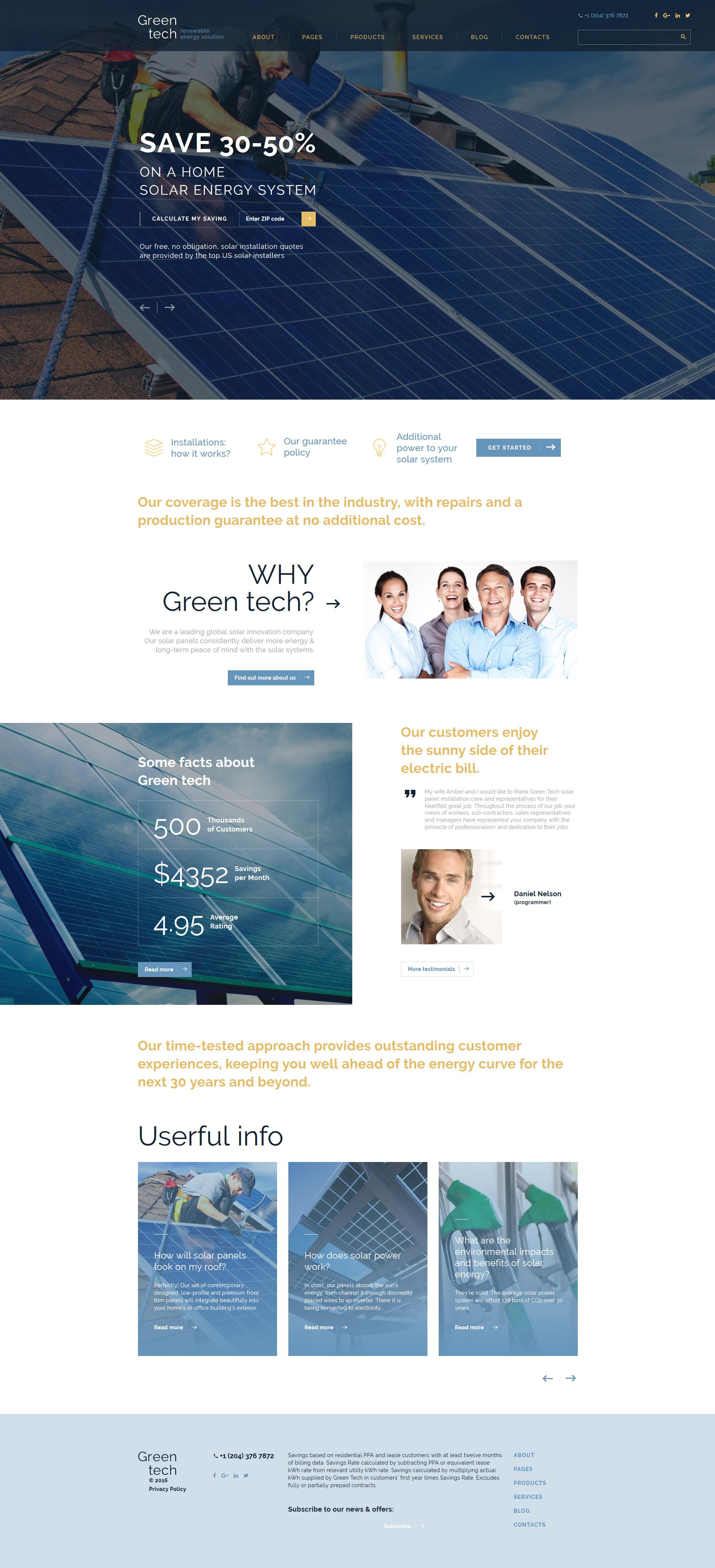 Responsywny szablon strony www Green Tech #58950