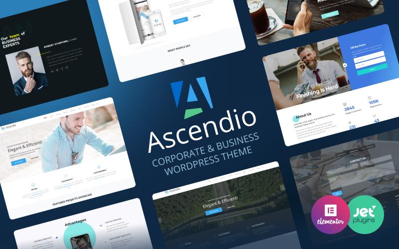 Reszponzív Ascendio - Corporate & Business WordPress sablon 58924