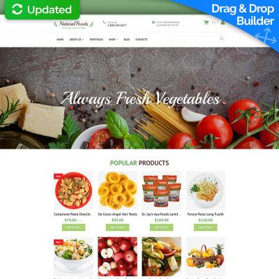 Food Store Responsive MotoCMS Ecommerce Sablon