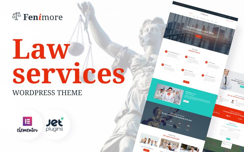 Reszponzív Fenimore - egy ügyvédi irodáknak létrehozott WordPress téma WordPress sablon 58958