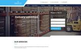 Reszponzív Szállítási  Weboldal sablon