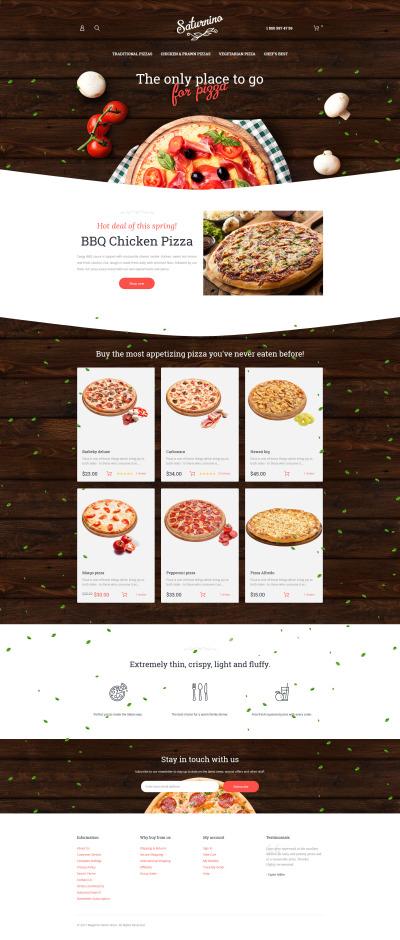 Thème Magento adaptatif  pour pizzeria