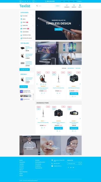 Tema de PrestaShop para Sitio de Tienda de Electrónica #58930