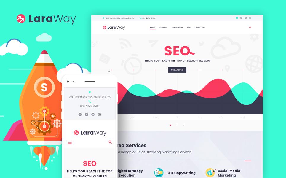 Tema de WordPress #58911 para Sitio de Agencias de marketing