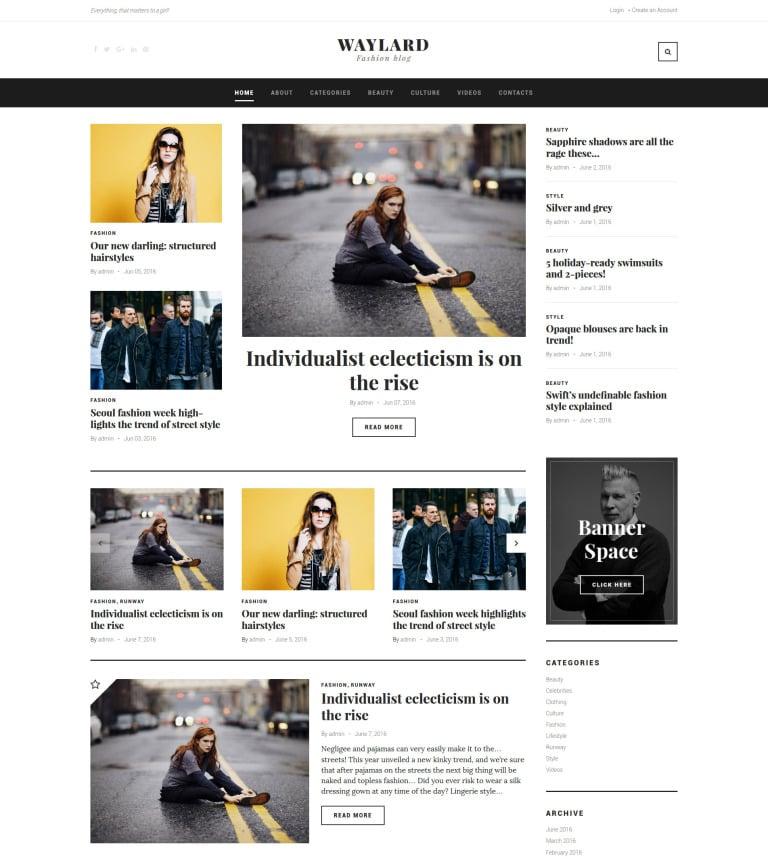Tema de WordPress #58904 para Sitio de Bloges de moda