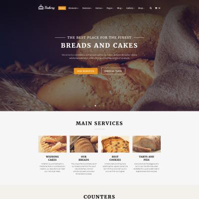 "Template Siti Web Responsive #58900 ""Bakery Multipurpose"" #58900"