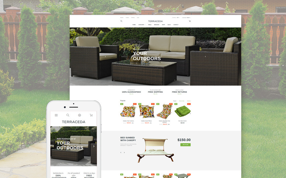 Terraceda - Outdoor Furniture PrestaShop Theme New Screenshots BIG