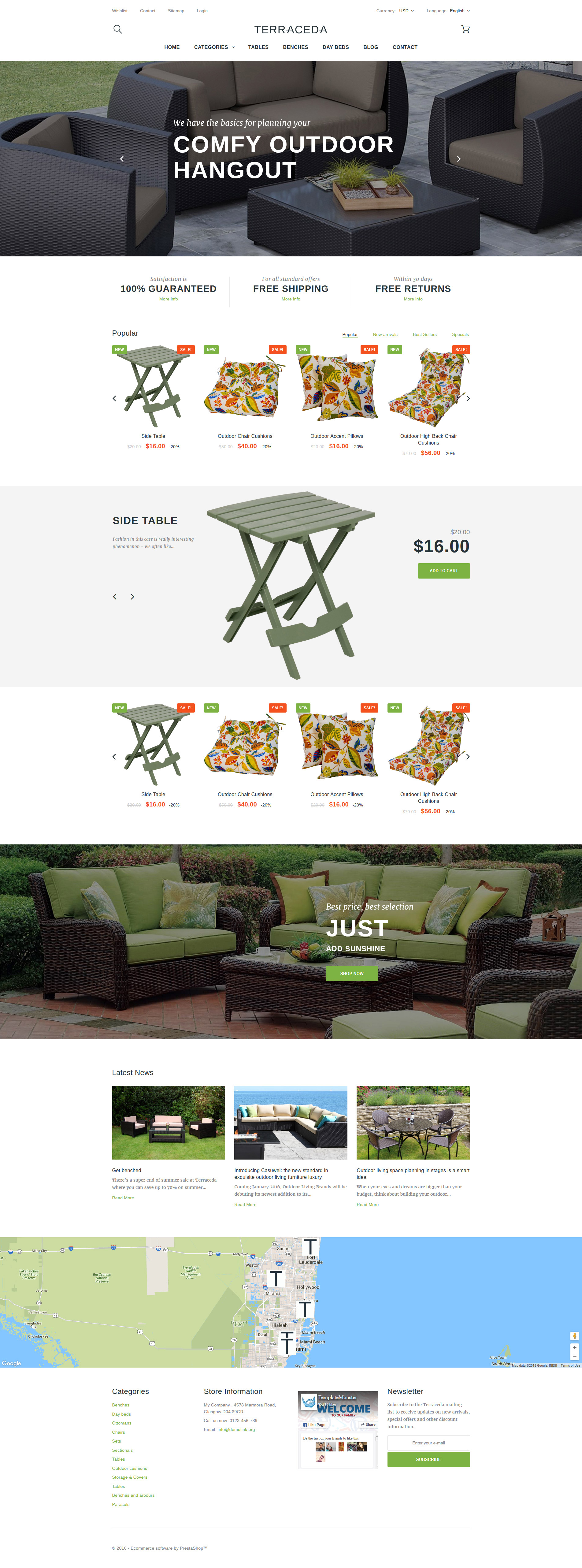 Terraceda - Outdoor Furniture PrestaShop Theme