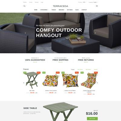 Thème PrestaShop adaptatif  pour site de meubles