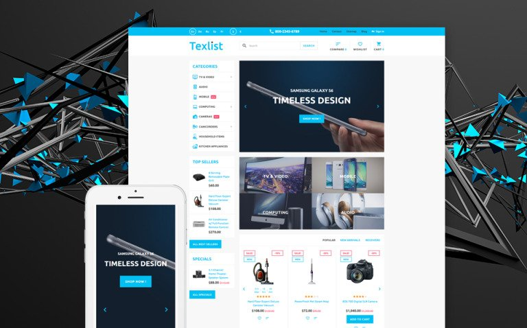 Texlist PrestaShop Theme New Screenshots BIG