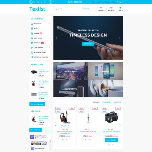 Texlist - PrestaShop Template based on Bootstrap