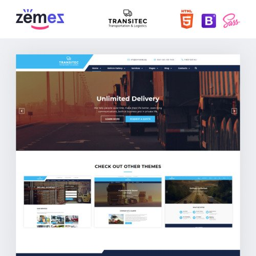 Transitec - Website Template based on Bootstrap