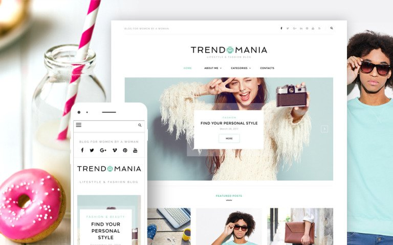Trendomania - Lifestyle & Fashion Blog WordPress Theme New Screenshots BIG