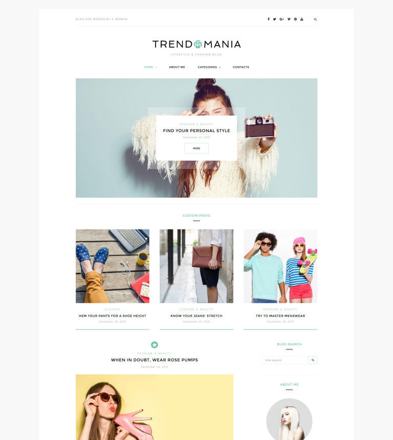 Trendomania - Lifestyle & Fashion Blog WordPress Theme