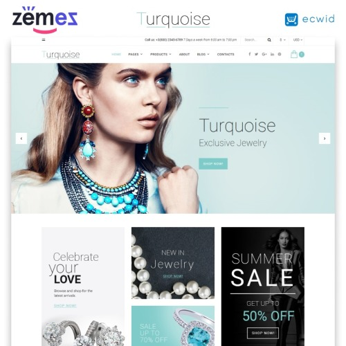 Turquoise - Website Template based on Bootstrap