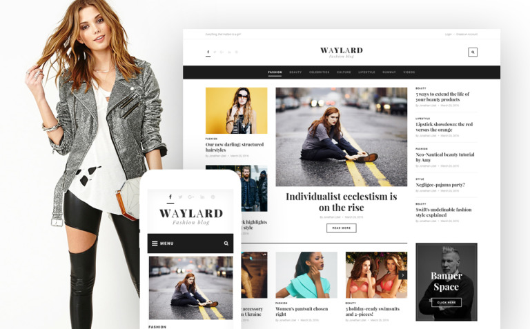 Waylard - Fashion Blog & Magazine WordPress Theme New Screenshots BIG