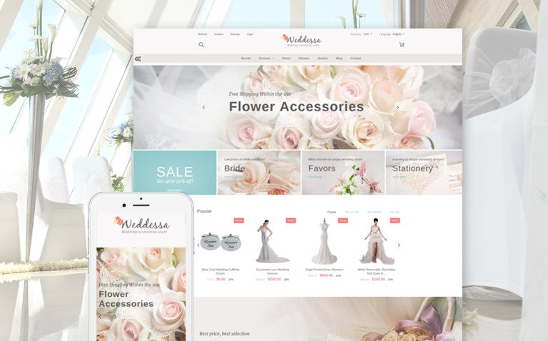 Weddessa - Wedding Store PrestaShop Theme New Screenshots BIG