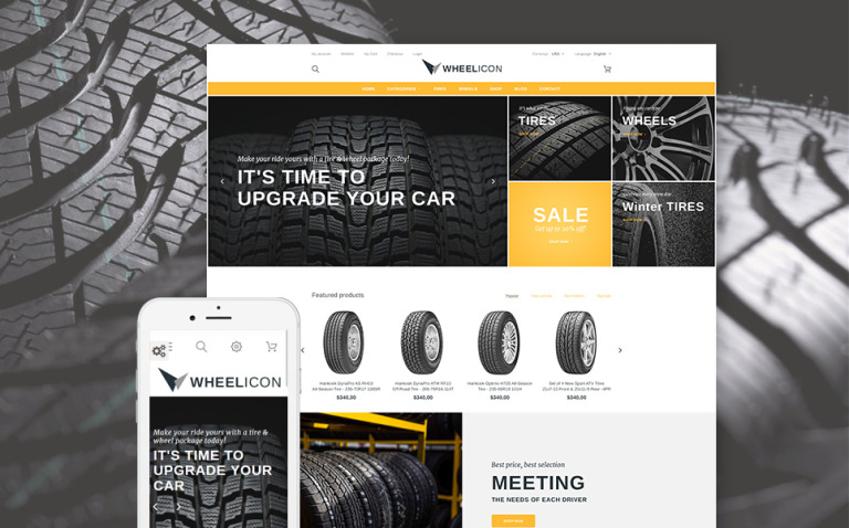 Wheelicon PrestaShop Theme New Screenshots BIG