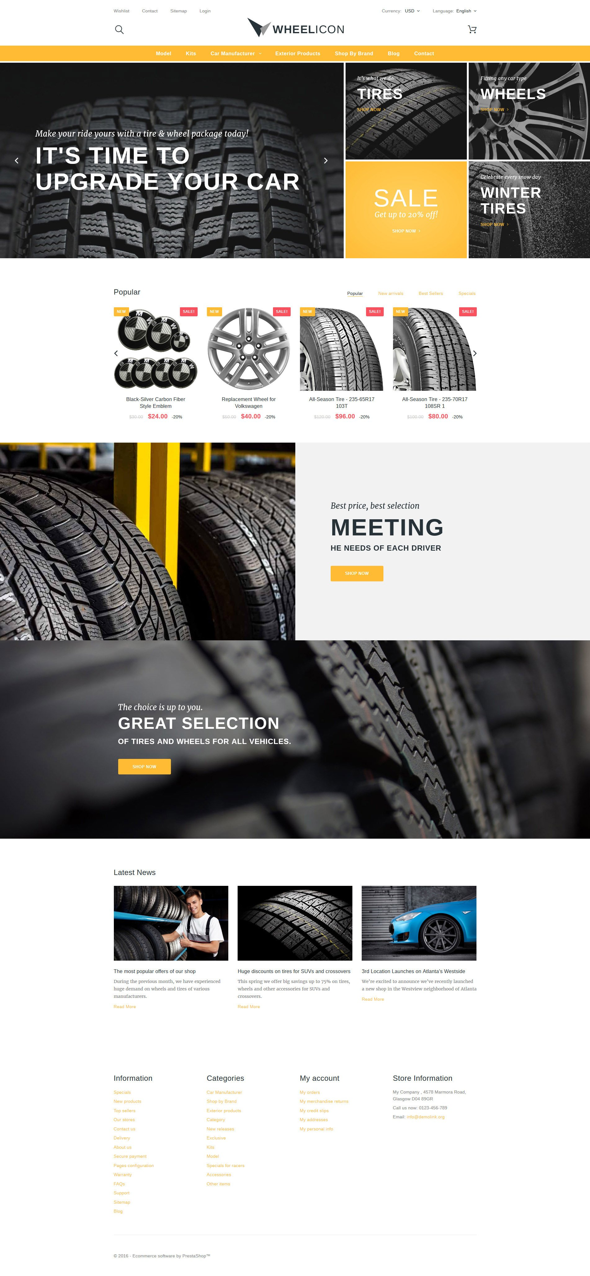 Wheelicon PrestaShop Theme