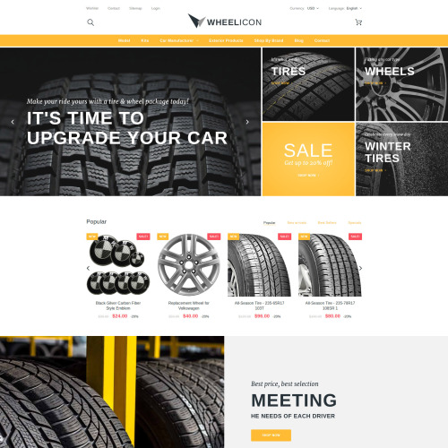 Wheelicon - PrestaShop Template based on Bootstrap