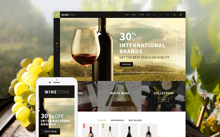 Wine Tone PrestaShop Theme New Screenshots BIG