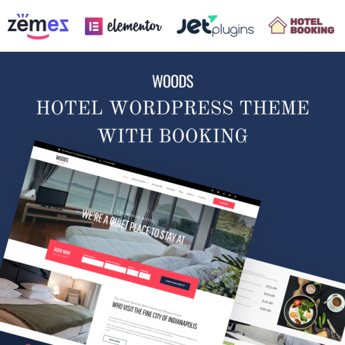 Woods Hotel Hotel & Resort - Responsive WordPress Template