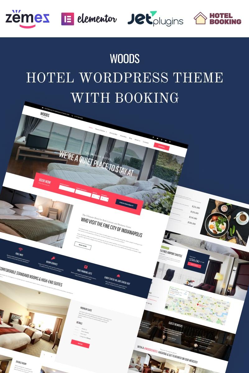 """Woods Hotel - Hôtel et complexe hôtelier"" thème WordPress adaptatif #58970"