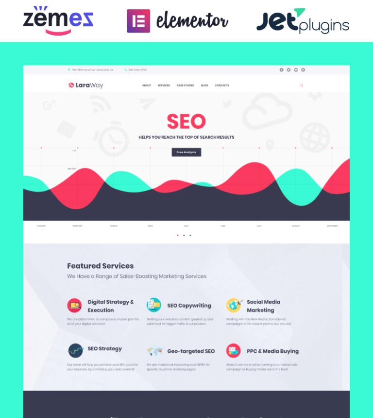 WordPress Theme #58911 für Marketing-Agentur