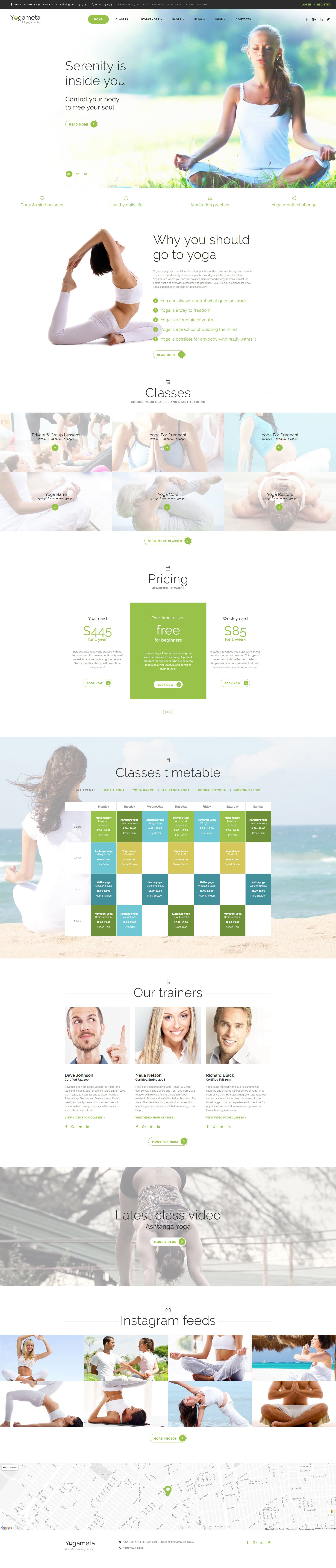 """Yogameta"" Responsive Website template №58908"