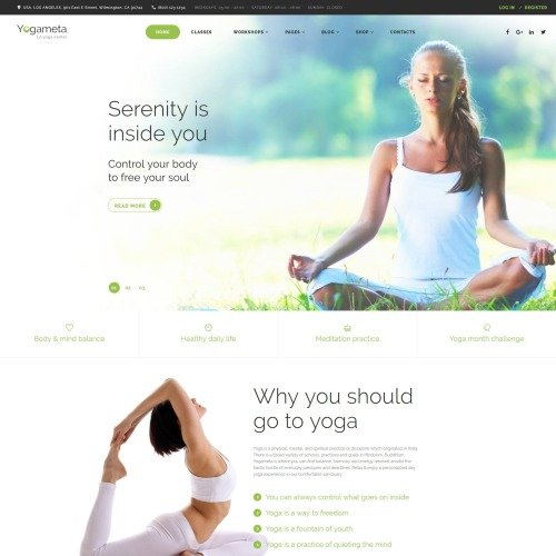 Yogameta - Website Template based on Bootstrap