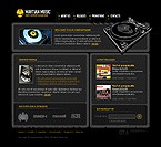 Flash: Music 3D Style Flash Site Most Popular Black Templates