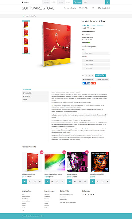 ADOBE Photoshop Template 59003 Home Page Screenshot