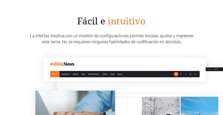 Tema de WordPress #59037 para Sitio de Revistas