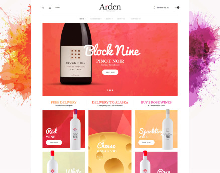 Arden - Wine And Food Online Store WooCommerce Theme