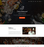 Cafe & Restaurant Website  Template 59048