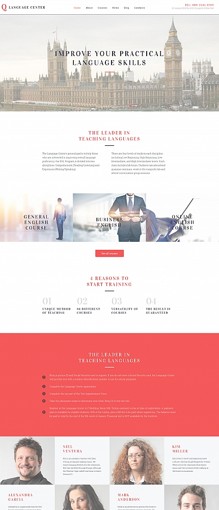 ADOBE Photoshop Template 59056 Home Page Screenshot