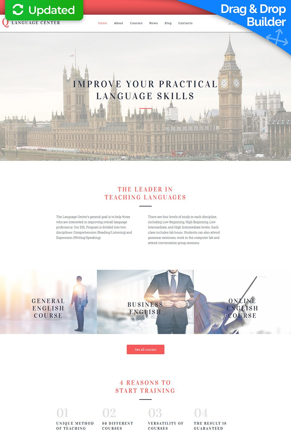 White theme for education site
