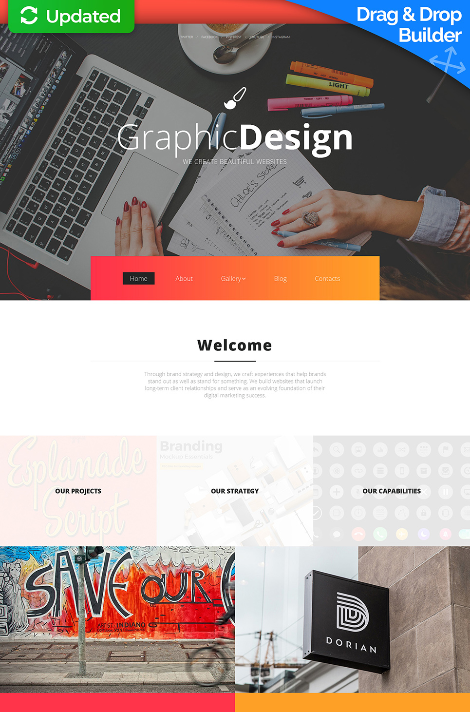 Vivid web theme for designers