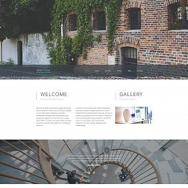 Купить Шаблон сайта агентства недвижимости - Sweet house. Купить шаблон #59069 и создать сайт.