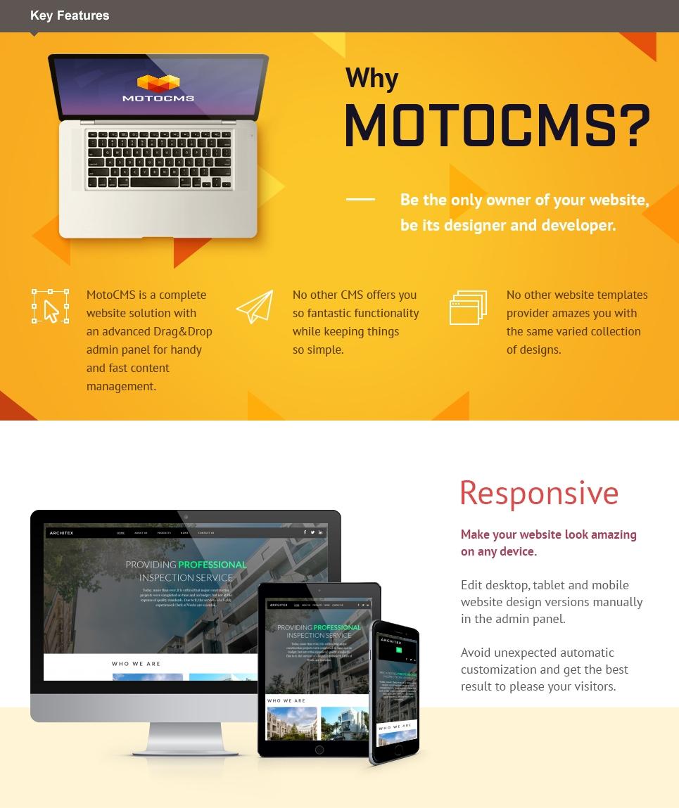Architecture Responsive Moto CMS 3 Template