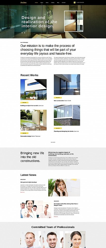 ADOBE Photoshop Template 59074 Home Page Screenshot