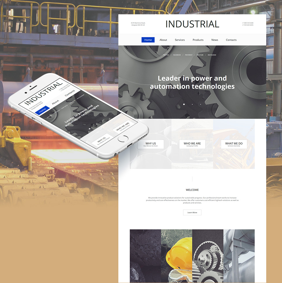 Industrial Business HTML Website Template - image